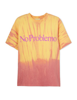 No Problemo Printed Tie Dyed Cotton Jersey T Shirt by Aries