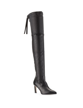 Natalia 75mm Leather Over The Knee Boots by Stuart Weitzman