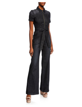 Gorgeous Wide Leg Denim Jumpsuit by Alice + Olivia Jeans