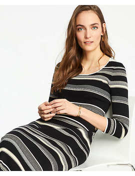 Striped Scoop Neck Sweater Dress by Ann Taylor