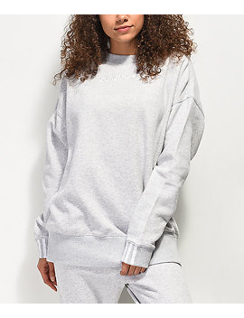 Adidas Coeeze Light Grey Crew Neck Sweatshirt by Adidas