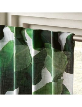 """Banana Leaf Curtain Panel 48""""X84"""" by Crate&Barrel"""