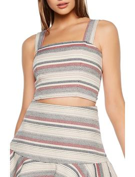 Stripe Crop Top by Bardot