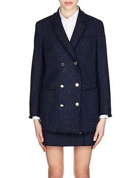 Frayed Wool Tweed Jacket by Thom Browne
