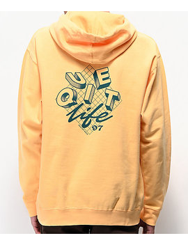 The Quiet Life Grid Peach Hoodie by The Quiet Life