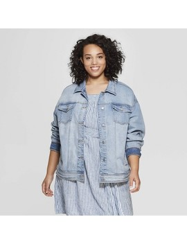 Women's Plus Size Denim Jacket   Universal Thread™ Light Blue by Universal Thread