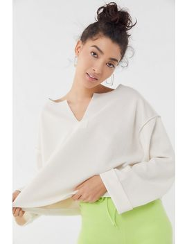 Uo Jax Inside Out Notch Neck Top by Urban Outfitters