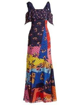 Canasta Floral And Polka Dot Fil Coupé Gown by Mary Katrantzou