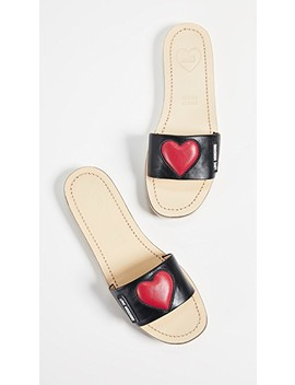 Padded Heart Slides by Moschino