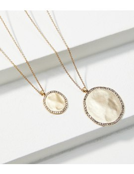 Pave Drop Pendant Necklace Set by Loft