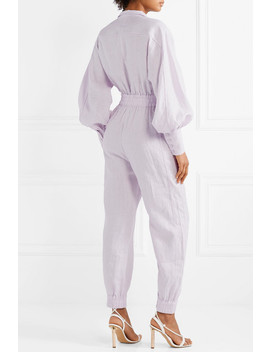 Ninety Six Racer Linen Jumpsuit by Zimmermann