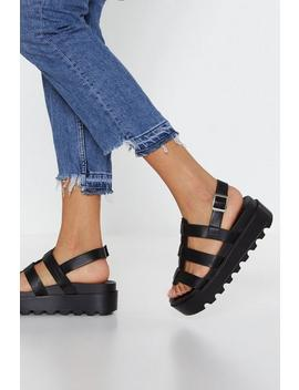 Stand Your Ground Platform Cleated Sandals by Nasty Gal