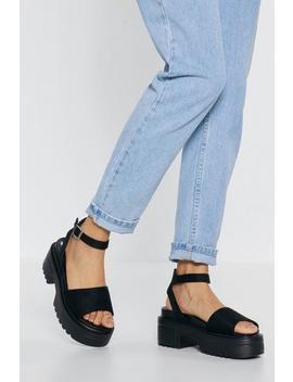 Tread Carefully Platform Sandals by Nasty Gal
