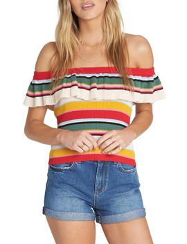 Take A Trip Off The Shoulder Top by Billabong
