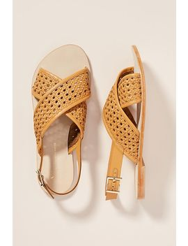 Anthropologie Ezra Criss Cross Sandals by Anthropologie