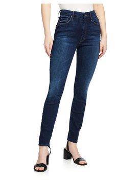 The High Waisted Looker Ankle Skinny Jeans by Mother