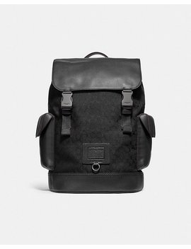 Rivington Backpack In Signature Jacquard by Coach