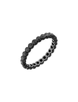 Black Diamond Bezel Band Ring by Sethi Couture