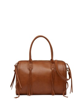 Baxter Whipstitched Vegan Leather Satchel by Urban Expressions