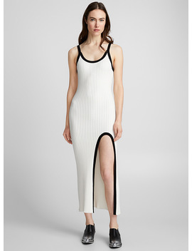 Accent Touch Ribbed Dress by Lecavalier + Edito