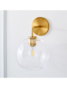Sculptural Glass Globe Sconce   Small by West Elm