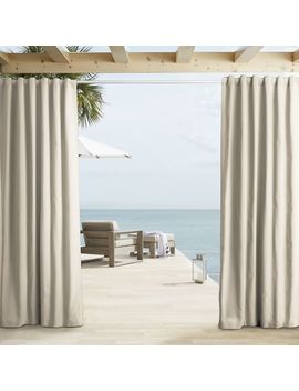 Outdoor Solid Curtains   Natural by West Elm