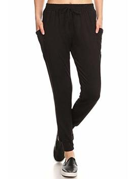 Sho Sho Womens Solid Color Loose Fit Jogger Harem Pants Casual Bottoms Skinny Self Tie by Sho Sho