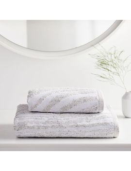 Organic Marble Sculpted Towels by West Elm