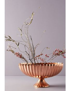 Copper Pedestal Vase by The Floral Society