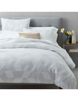 Organic Alternating Geo Jacquard Duvet Cover + Shams by West Elm