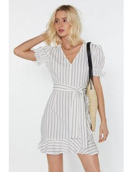 Read Between The Lines Striped Wrap Dress by Nasty Gal