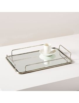 Fishs Eddy Gilded Cafe Mirror Trays   Polished Nickel by West Elm