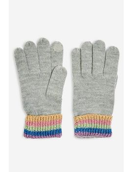 Rainbow Touchscreen Gloves by Topshop