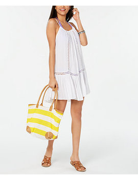 Crochet Trim Cover Up Dress by Raviya