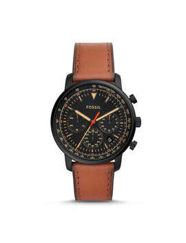 Goodwin Chronograph Luggage Leather Watch by Fossil