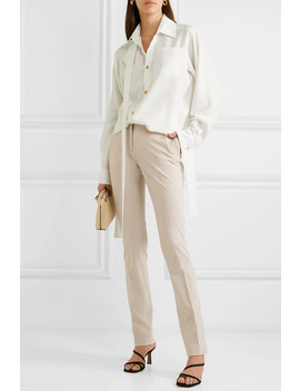 Zoran Wool Blend Slim Leg Pants by Joseph