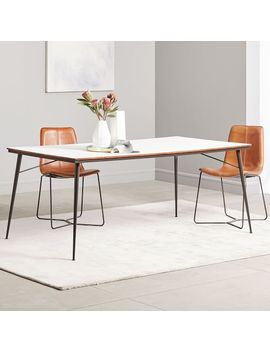 Paulson Dining Table   White Laminate by West Elm