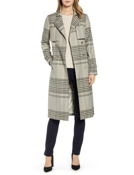 Buckle Cuff Check Trench Coat by Ted Baker London