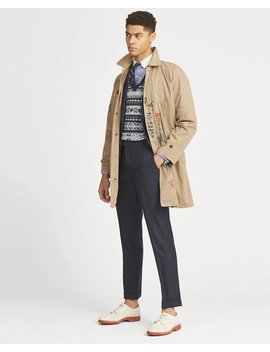 Cotton Twill Balmacaan Coat by Ralph Lauren