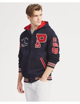 Hooded Letterman Jacket by Ralph Lauren
