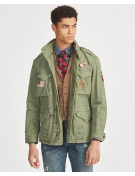 Twill Graphic Field Jacket by Ralph Lauren