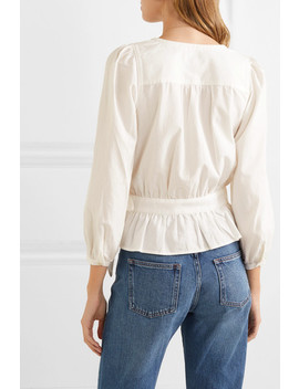 Cotton Blend Wrap Top by Madewell