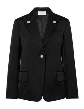 Holkar Embellished Cotton Blend Blazer by Wales Bonner