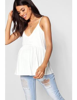 Maternity Strappy Peplum Cami by Boohoo