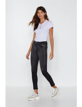 Zip At Their Ankles Skinny Jeans by Nasty Gal