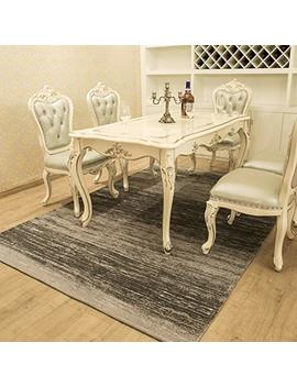 Amida Grey Area Rug 8x10 Washable Non Skid For Living Room Dining Room Contemporary Modern Stripe Carpet Rug Indoor Gray Charcoal by Amida