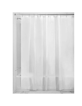 "Inter Design Eva Extra Long Shower Curtain, Mold  And Mildew Resistant Water Repellent Bath Liner For Master Bathroom, Kid's Bathroom, Guest Bathroom, 72"" X 96"", Frost White by Inter Design"