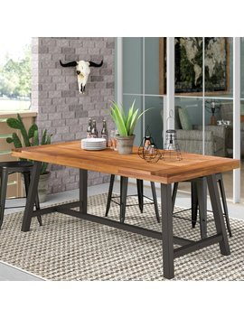 Polanco Outdoor Dining Table by 17 Stories