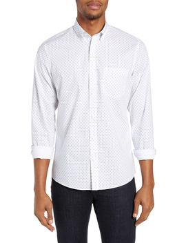 Slim Fit Non Iron Geo Print Sport Shirt by Nordstrom Men's Shop