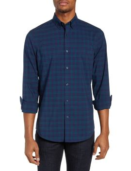 Tech Smart Slim Fit Check Sport Shirt by Nordstrom Men's Shop